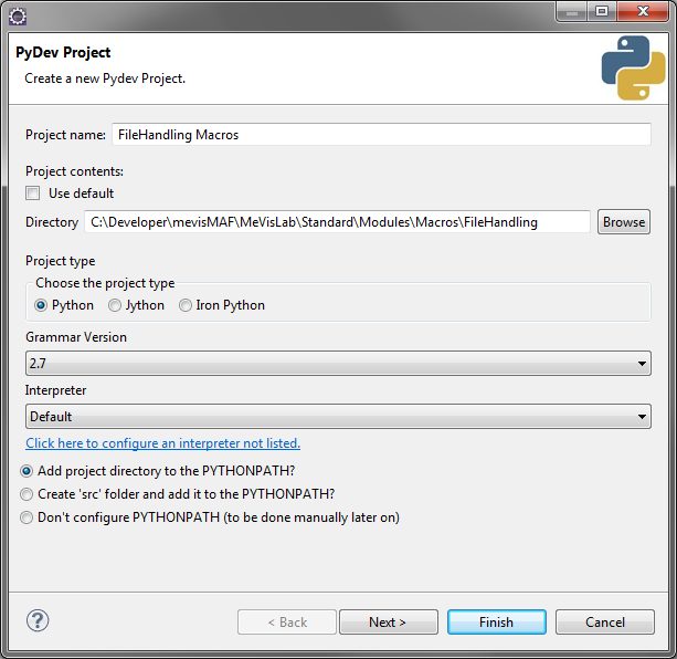 MeVisLab Scripting Reference: Python